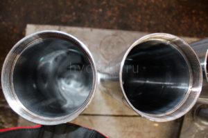 Трубы раскатанные после обработки