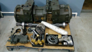 Ремонт главного гидронасоса экскаватора Bosch Rexroth A4VSO500+500