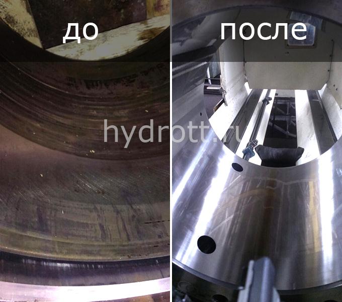 Восстановление хромированной поверхности трубы