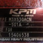 Гидромотор KPM Kawasaki M3X530ACN в разборе
