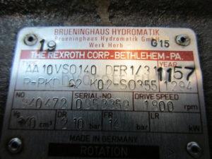 Гидронасос Bosch Rexroth A10VSO140