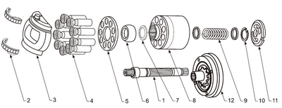 Схема гидронасоса A4VG125