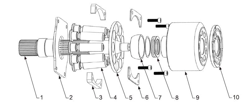 Схема гидронасоса A4VSO125