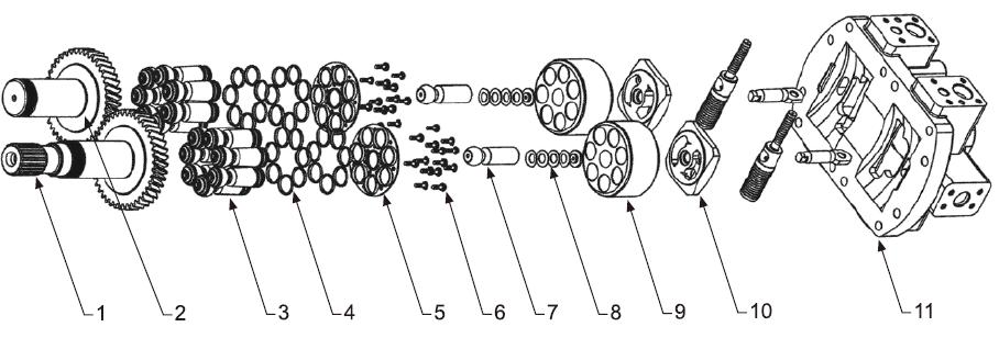 Схема гидронасоса A10VO28 52 series