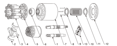 Схема гидронасоса A10VSO140