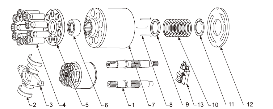 Схема гидронасоса A10VO45