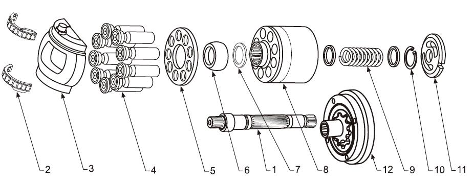 Схема гидронасоса A4VTG71