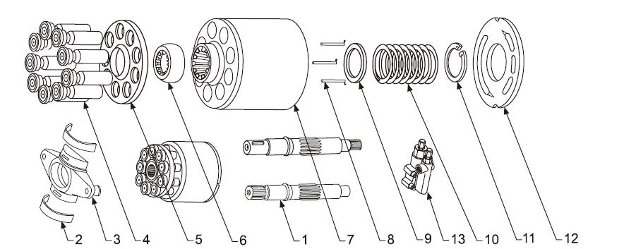 Схема гидронасоса A10V071